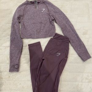 Gymshark crop top and leggings set